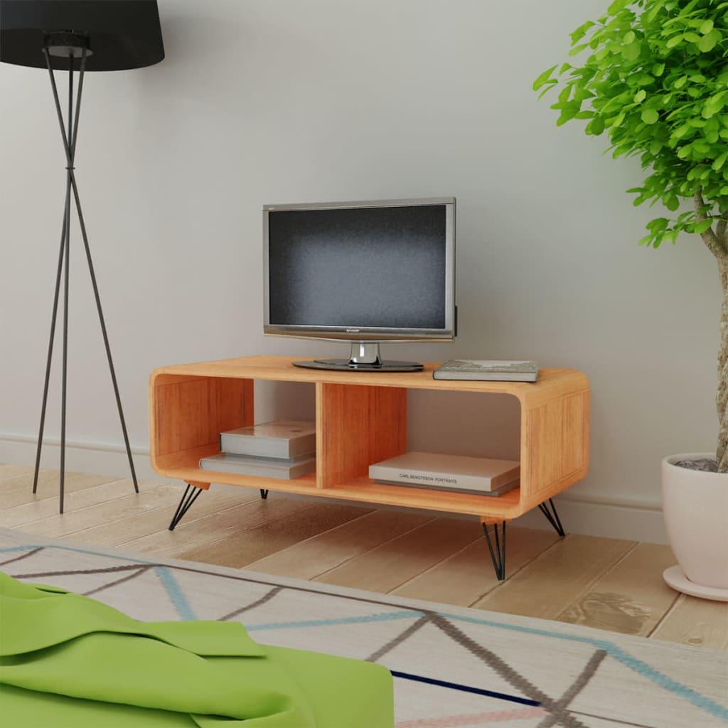 vidaXL fa TV állvány 90x39x38,5 cm barna