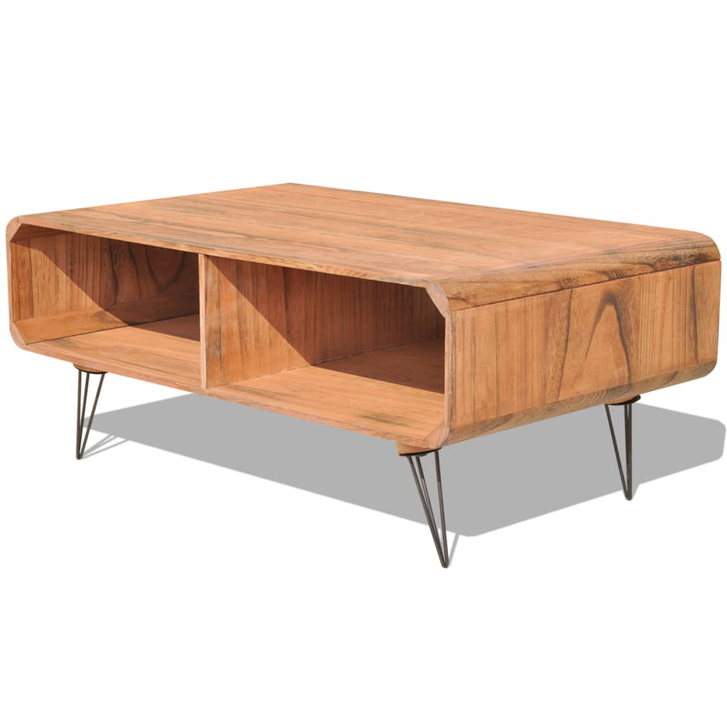Vidaxl coffee table cm wood brown for Table induction 90 cm