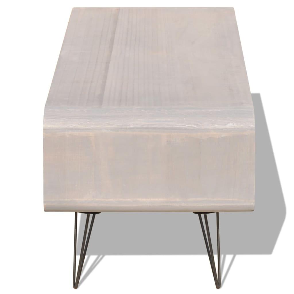 Acheter vidaxl meuble tv 90 x 39 x 38 5 cm bois gris pas for Meuble 90 cm