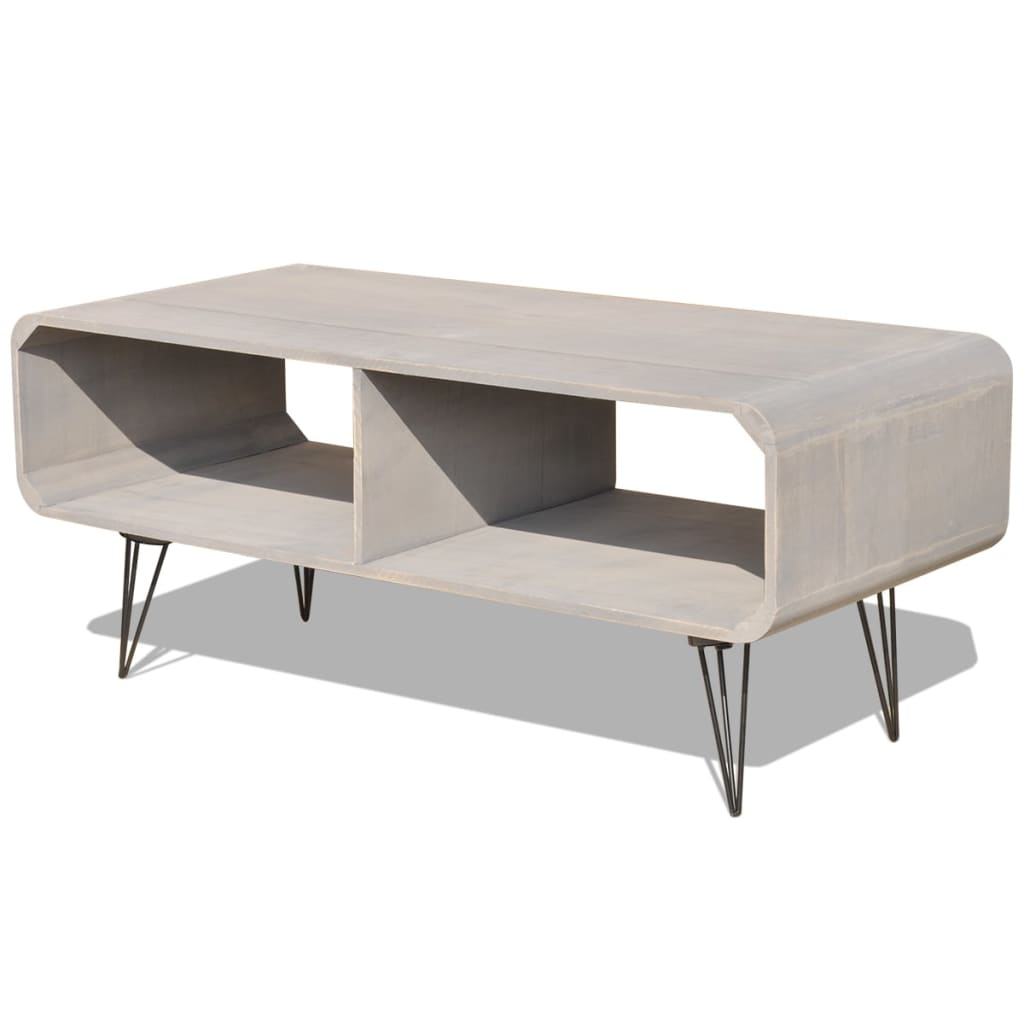 Acheter vidaxl meuble tv 90 x 39 x 38 5 cm bois gris pas for Meuble tv 90 cm