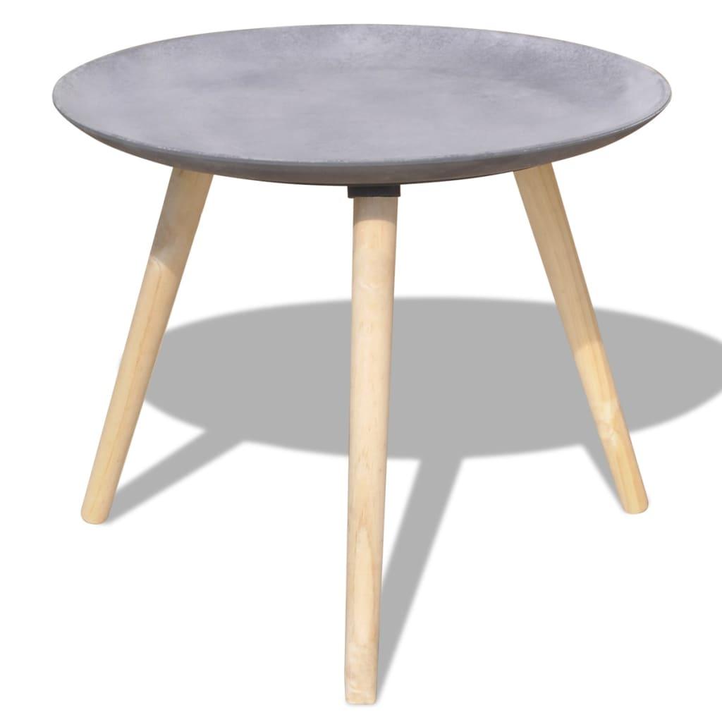 vidaxl 2 tlg beistelltisch couchtisch set 55 cm 44 cm betongrau g nstig kaufen. Black Bedroom Furniture Sets. Home Design Ideas