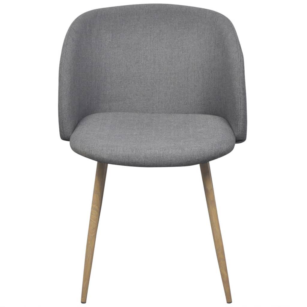 Vidaxl sillas de comedor 2 unidades gris claro for Sillas de comedor grises
