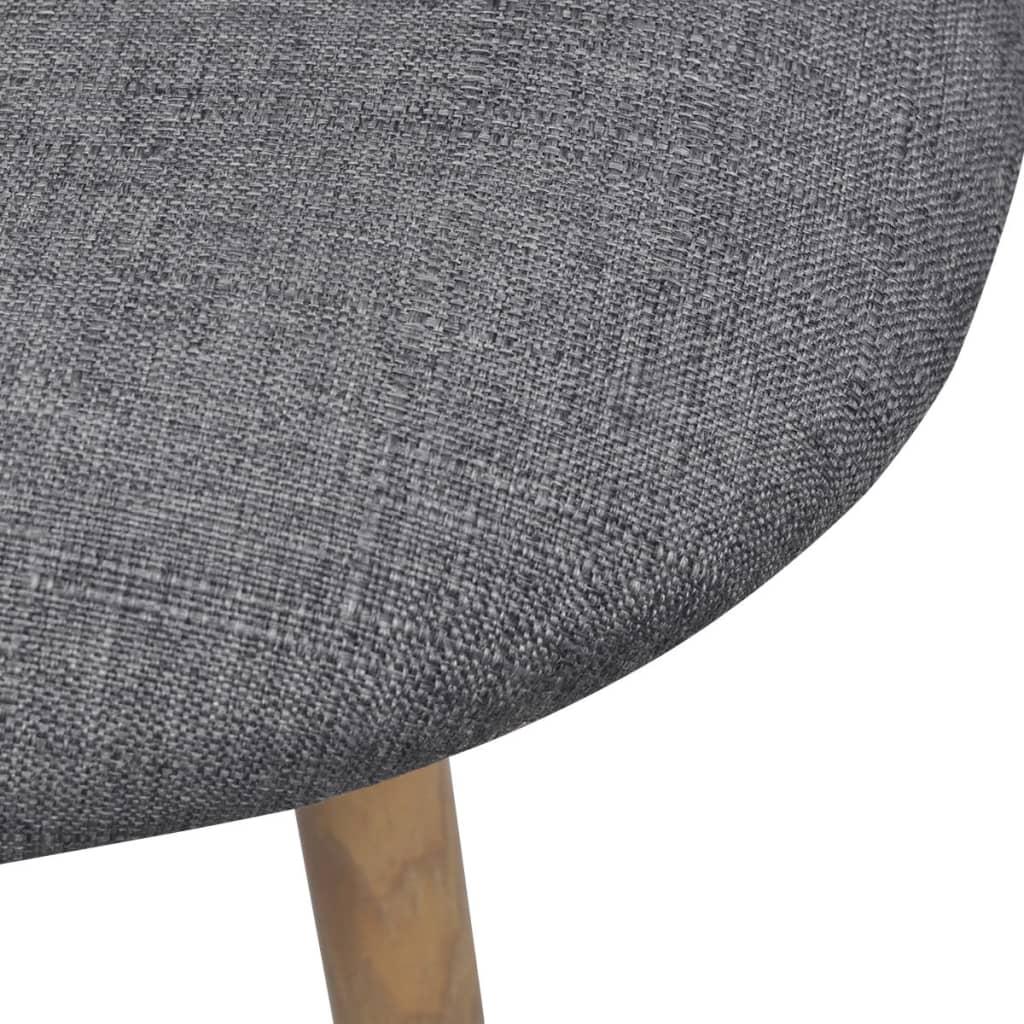 acheter vidaxl chaises de salle manger 2 pi ces gris clair pas cher. Black Bedroom Furniture Sets. Home Design Ideas