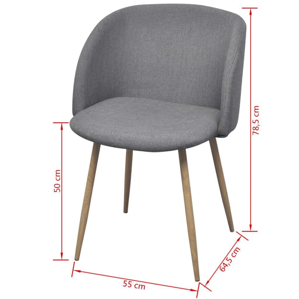 Acheter vidaxl chaises de salle manger 2 pi ces gris for Chaise de salle a manger gris clair