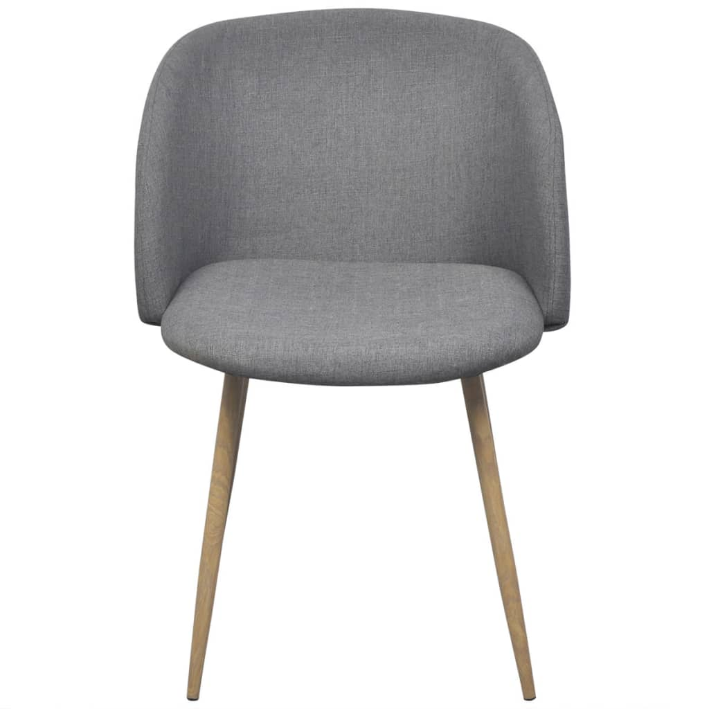 vidaXL Esszimmerstühle 4 Stk HELLGRAU | eBay