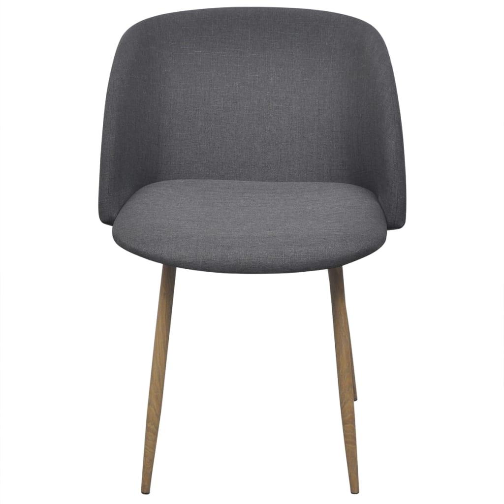 Vidaxl sillas de comedor 2 unidades gris oscuro for Silla comedor gris