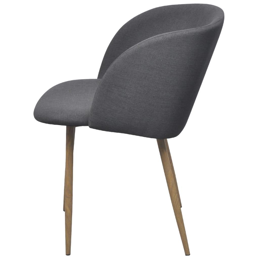 Vidaxl sillas de comedor 2 unidades gris oscuro - Vidaxl sillas ...