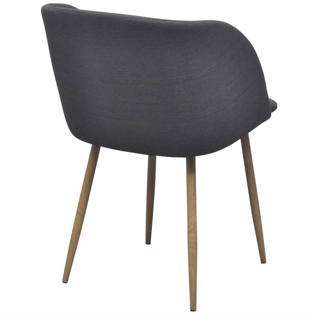 Vidaxl sillas de comedor 2 unidades gris oscuro for Sillas comedor gris