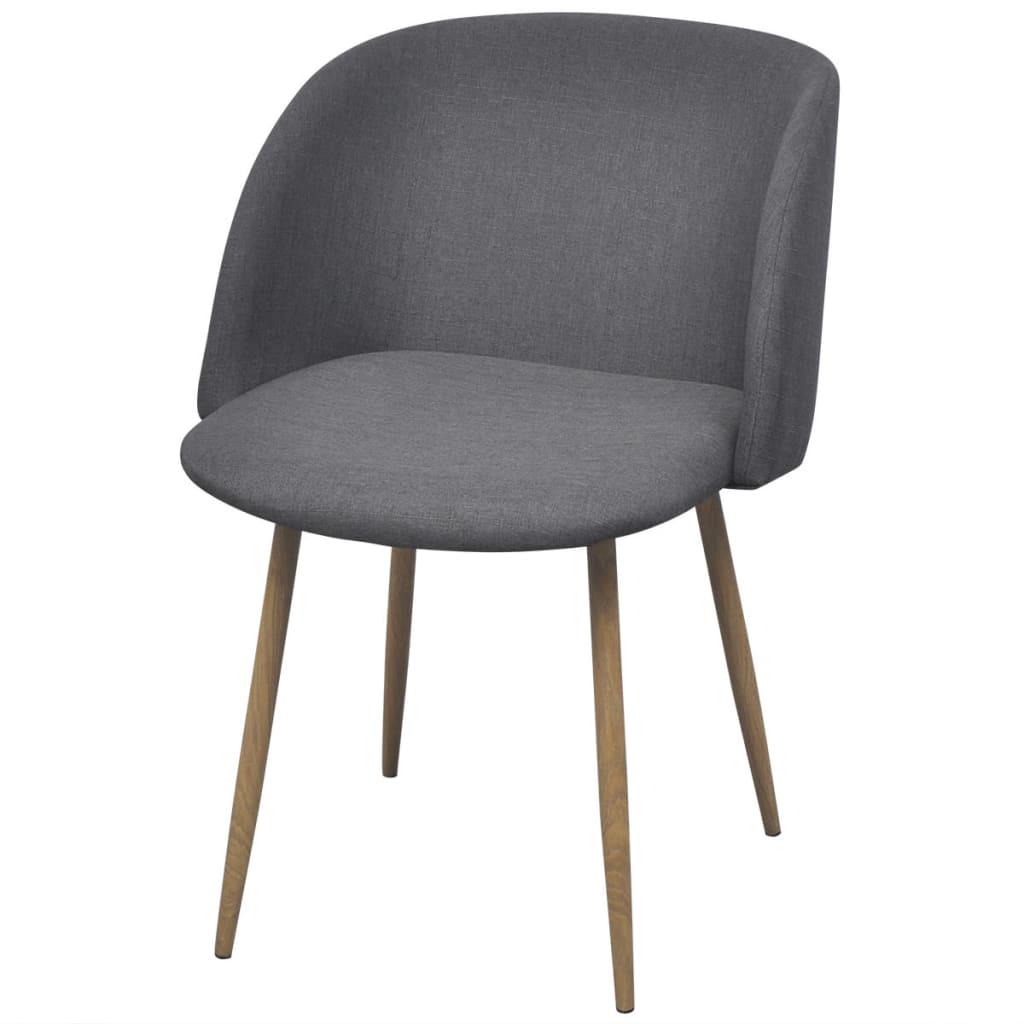 Vidaxl sillas de comedor 2 unidades gris oscuro tienda for Sillas comedor gris