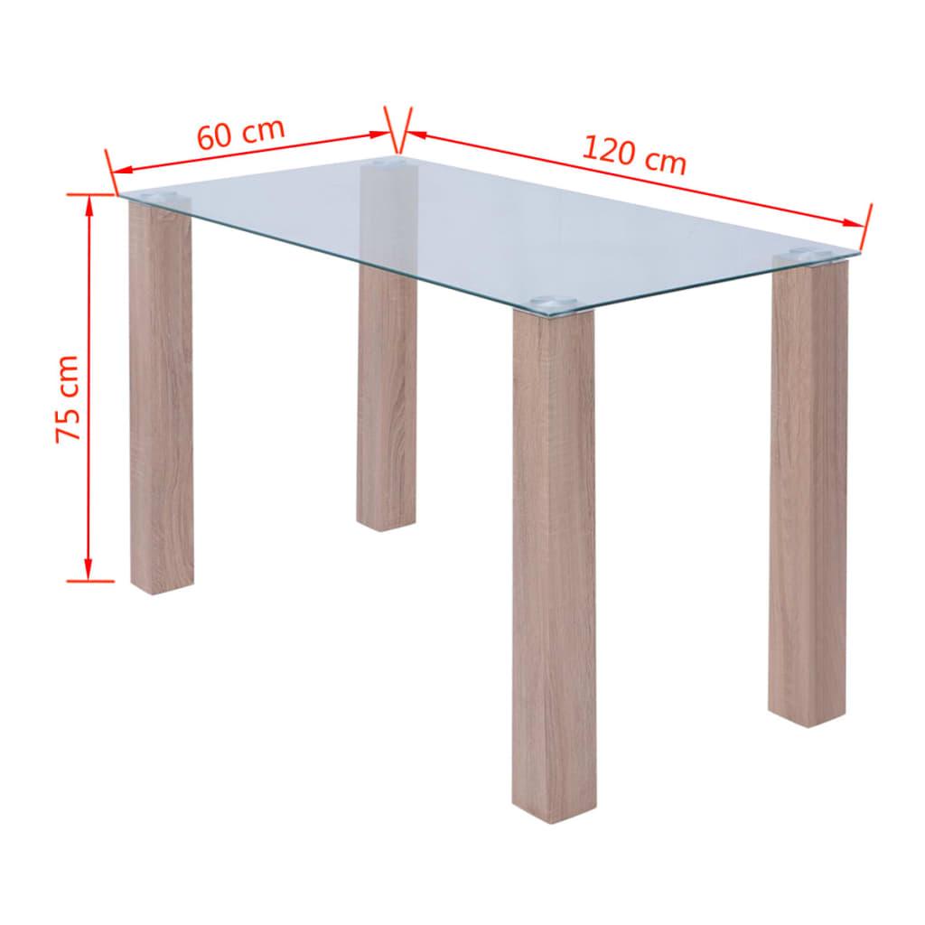 vidaxl esstisch glas 120x60x75 cm g nstig kaufen. Black Bedroom Furniture Sets. Home Design Ideas