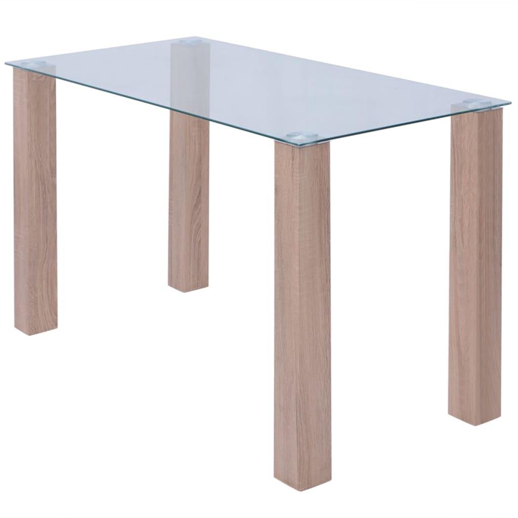 vidaXL 120x60x75 cm üveg kerti asztal
