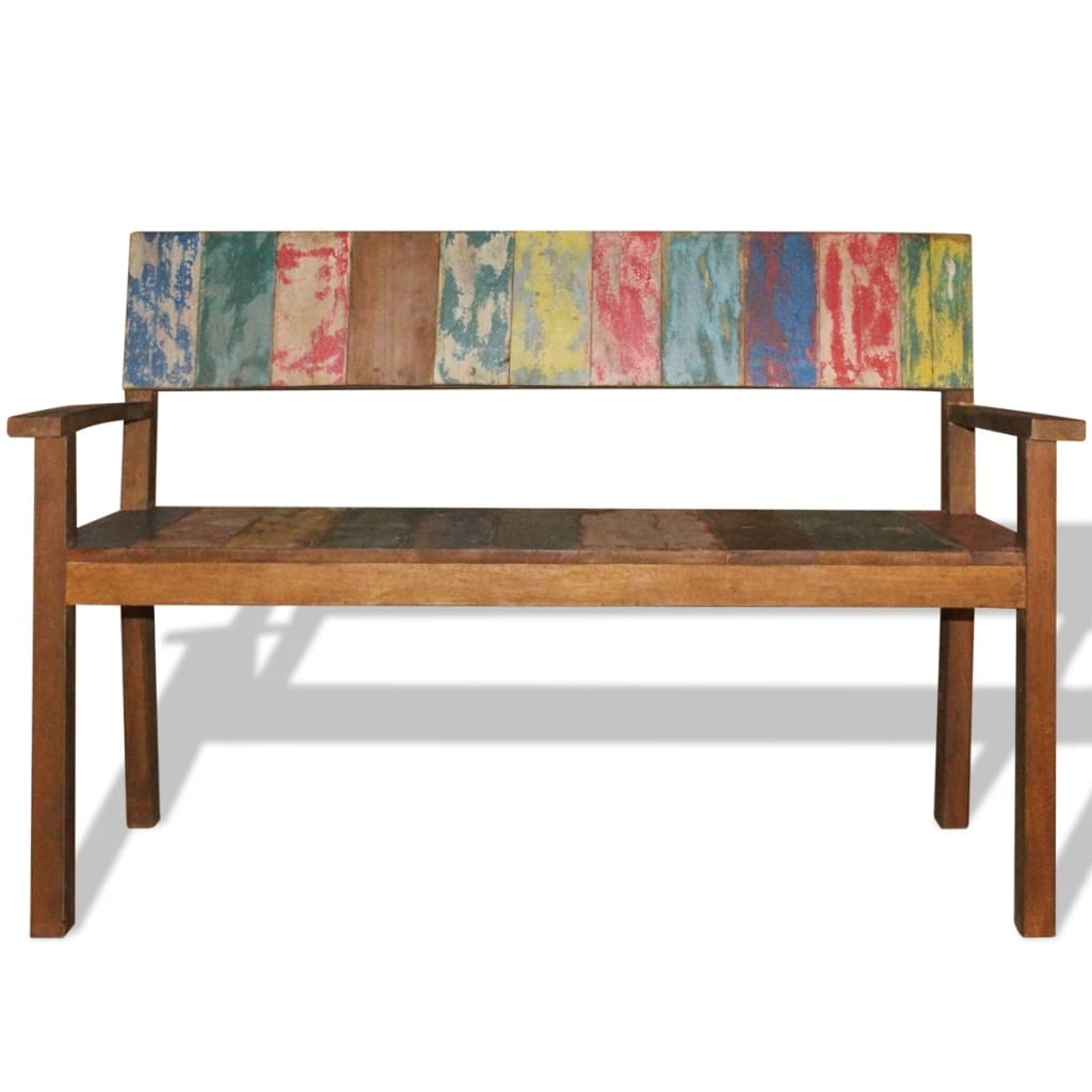 Vidaxl Bench Solid Reclaimed Wood 120x48x85 Cm