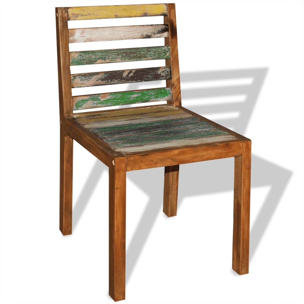 Reclaimed Wood Dining Chairs ~ Vidaxl dining chairs pcs solid reclaimed wood