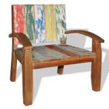 vidaXL Armchair Solid Reclaimed Wood 70x60x75 cm