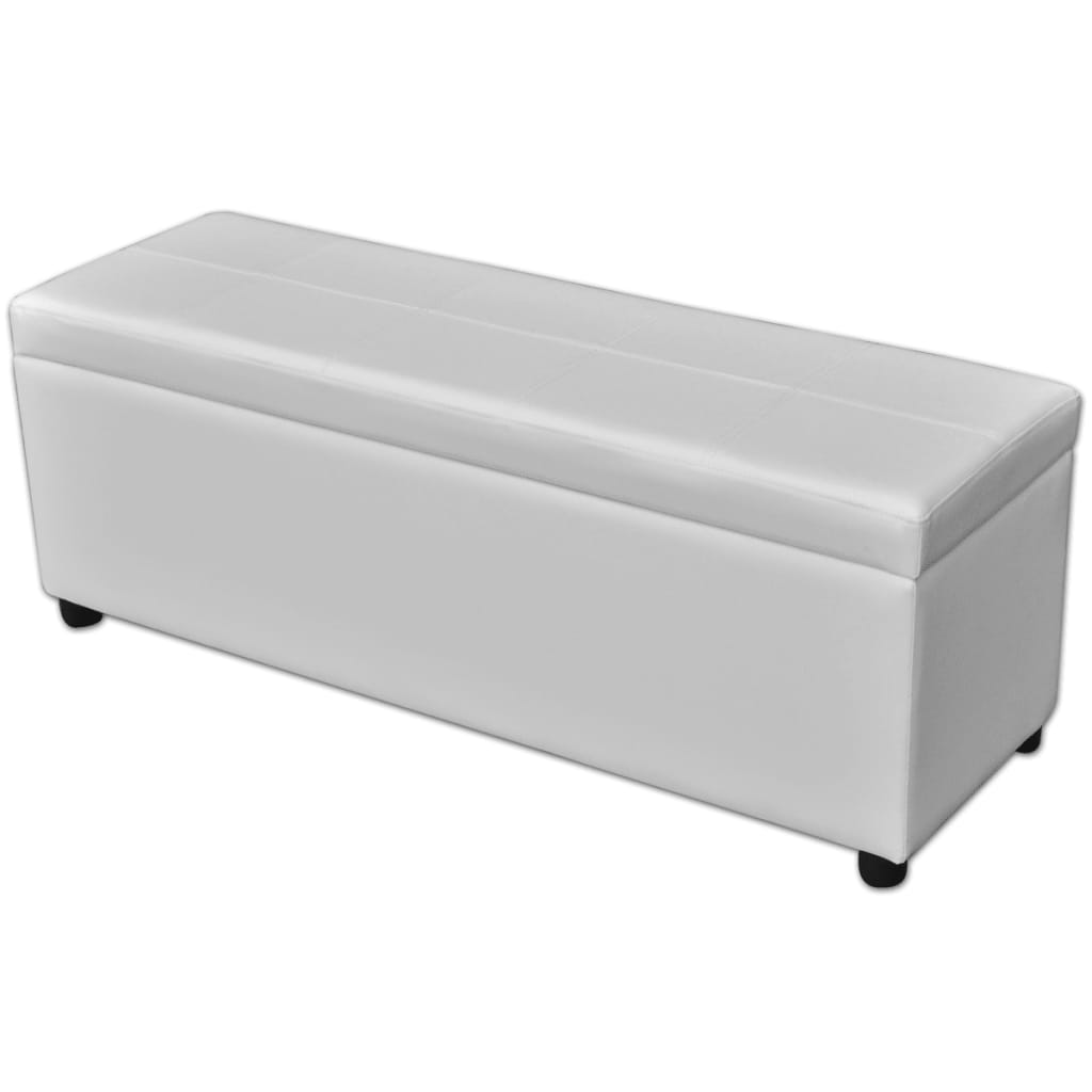 Vidaxl Long Storage Bench Wood White