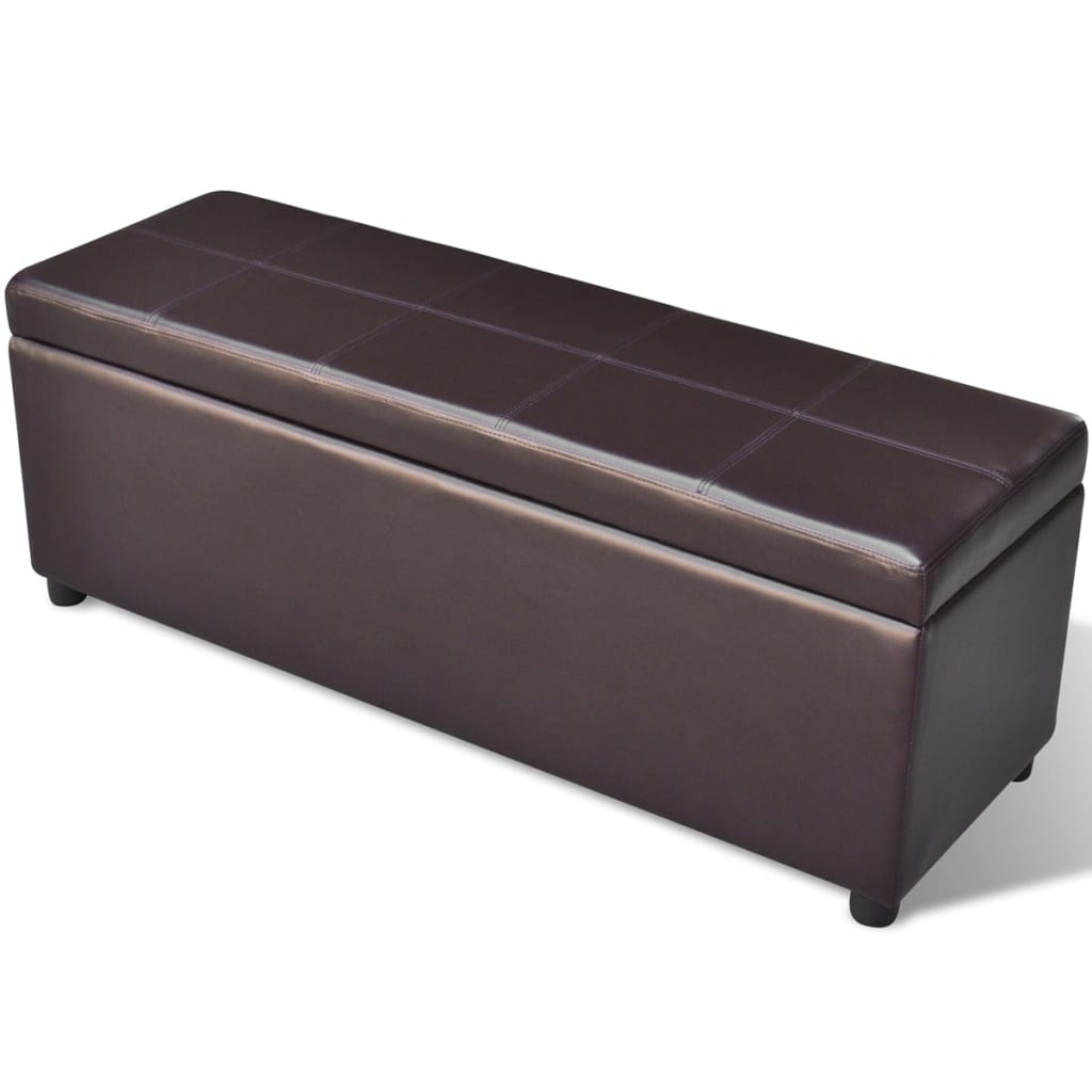 Vidaxl Long Storage Bench Wood Brown