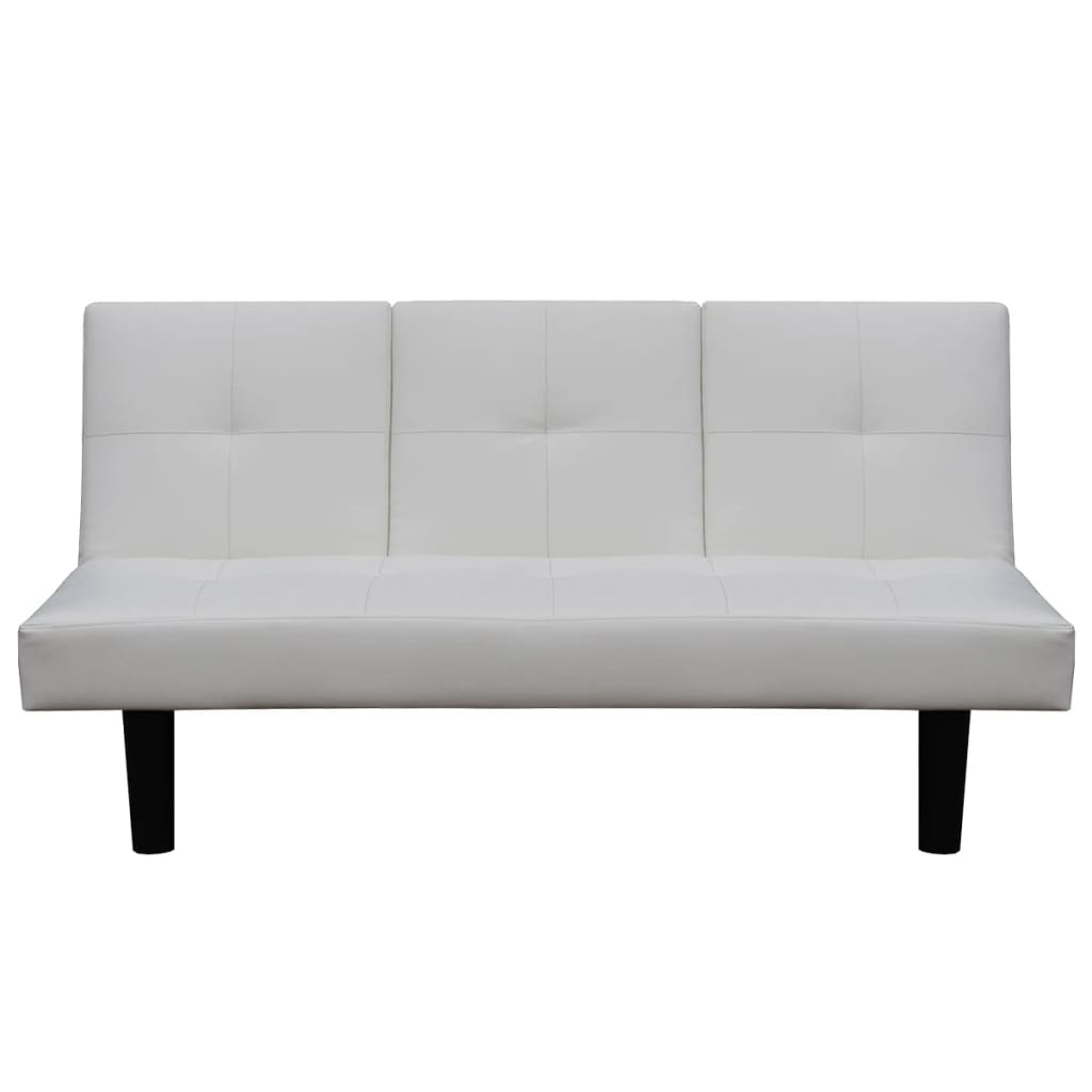 vidaxl schlafsofa mit ausklappbarem tisch kunstleder wei g nstig kaufen. Black Bedroom Furniture Sets. Home Design Ideas