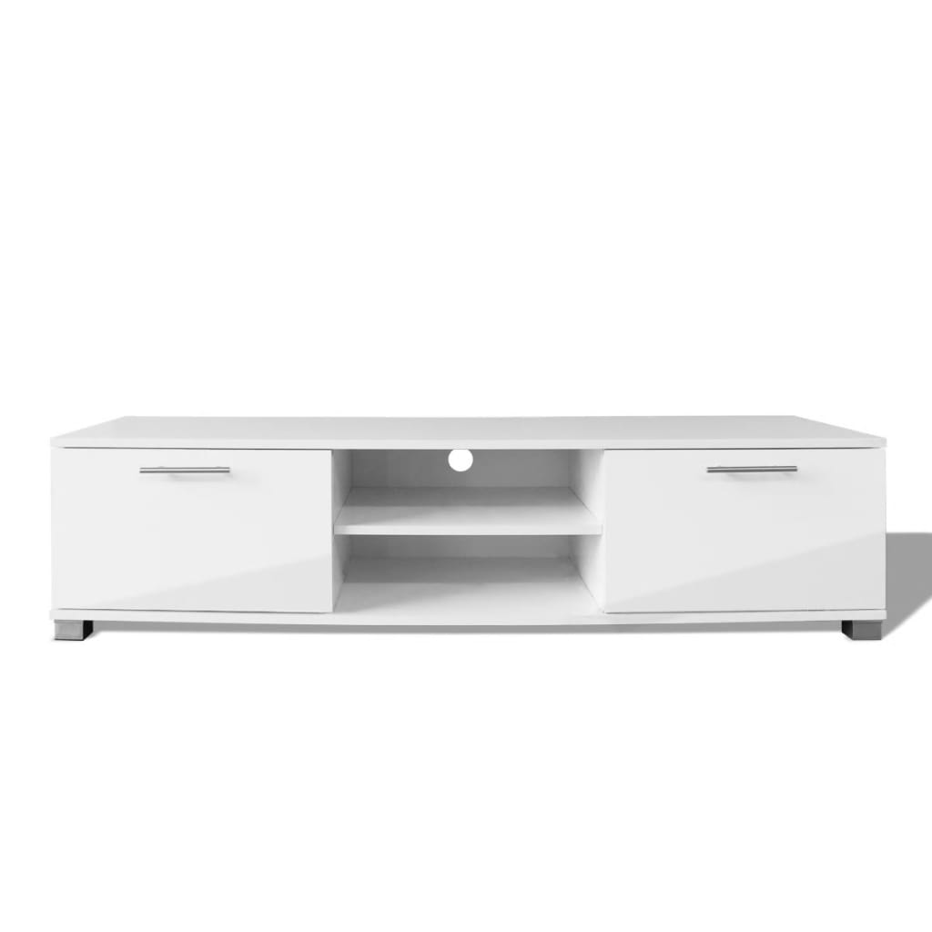 Acheter vidaxl meuble tv haute brillance blanc 120 x 40 for Meuble tv blanc haut