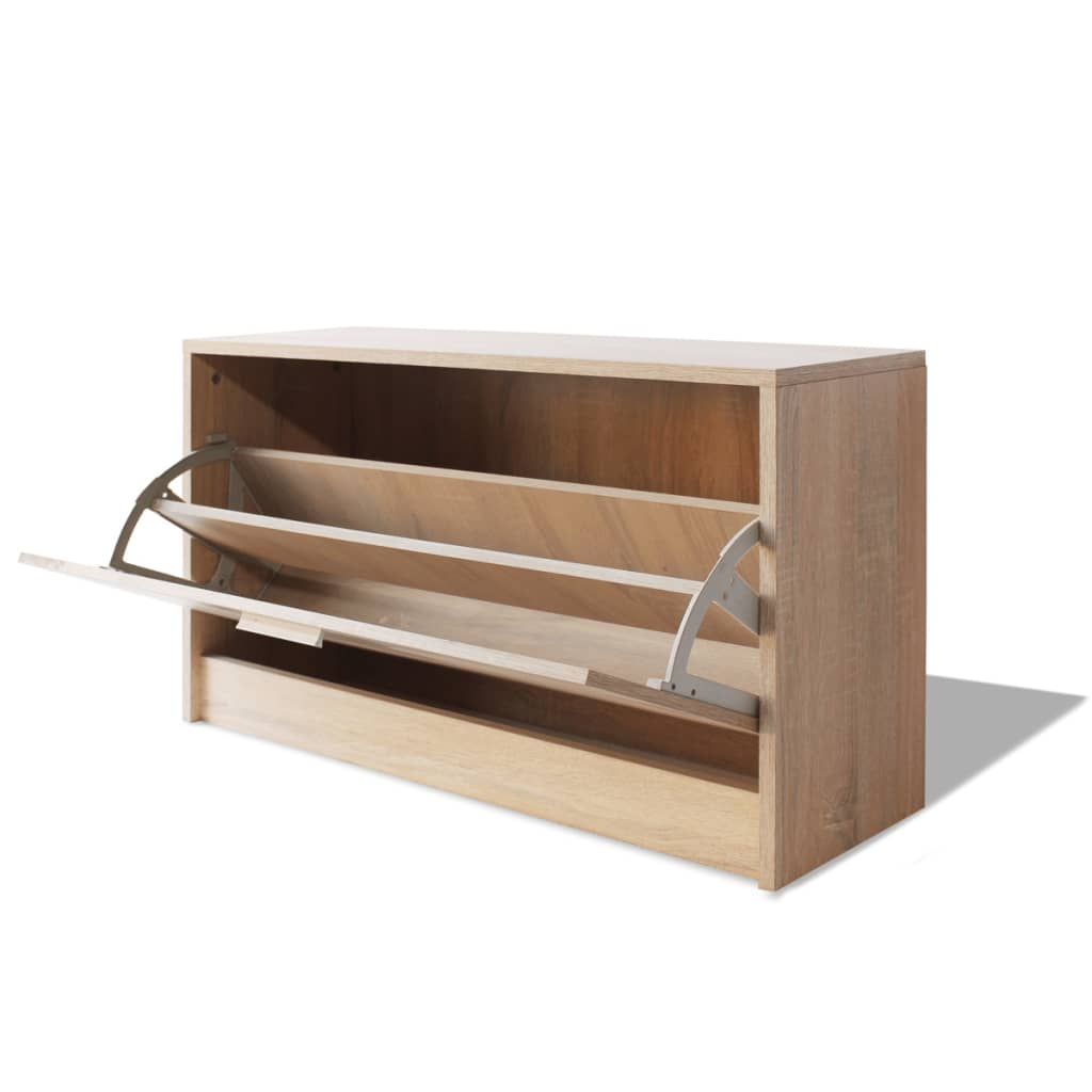 Vidaxl Shoe Storage Bench Oak 80x24x45 Cm