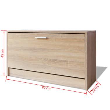 vidaxl schuhbank eiche 80x24x45 cm g nstig kaufen. Black Bedroom Furniture Sets. Home Design Ideas