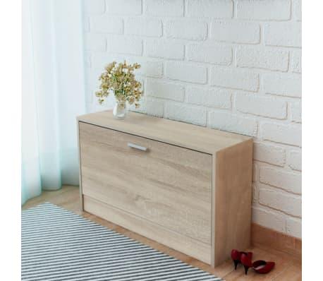 la boutique en ligne vidaxl banc chaussures 80 x 24 x 45 cm ch ne. Black Bedroom Furniture Sets. Home Design Ideas