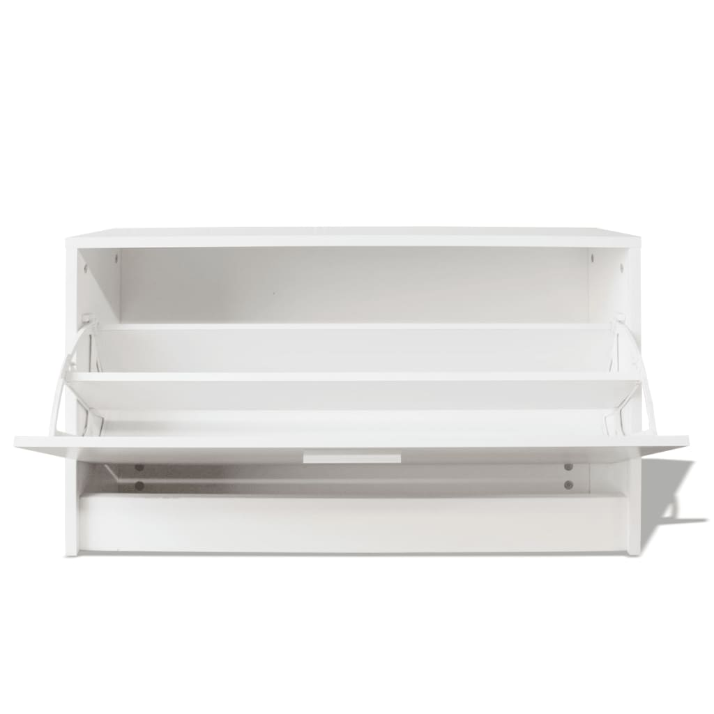 Vidaxl Shoe Storage Bench White 80x24x45 Cm