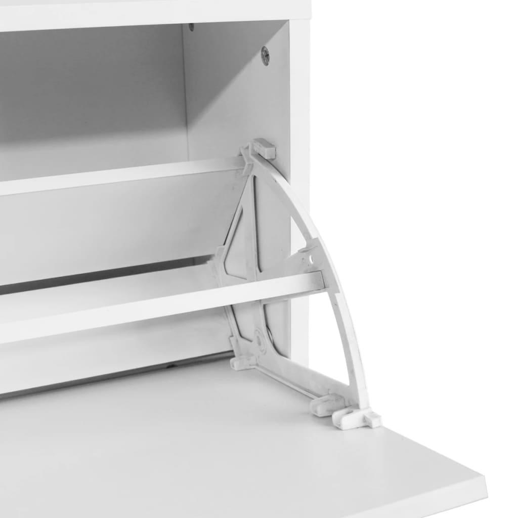 acheter vidaxl banc chaussures 80 x 24 x 45 cm blanc pas cher. Black Bedroom Furniture Sets. Home Design Ideas