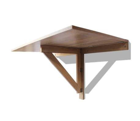Vidaxl table murale rabattable en ch ne 100 x 60 cm for Sur la table et 85 manual