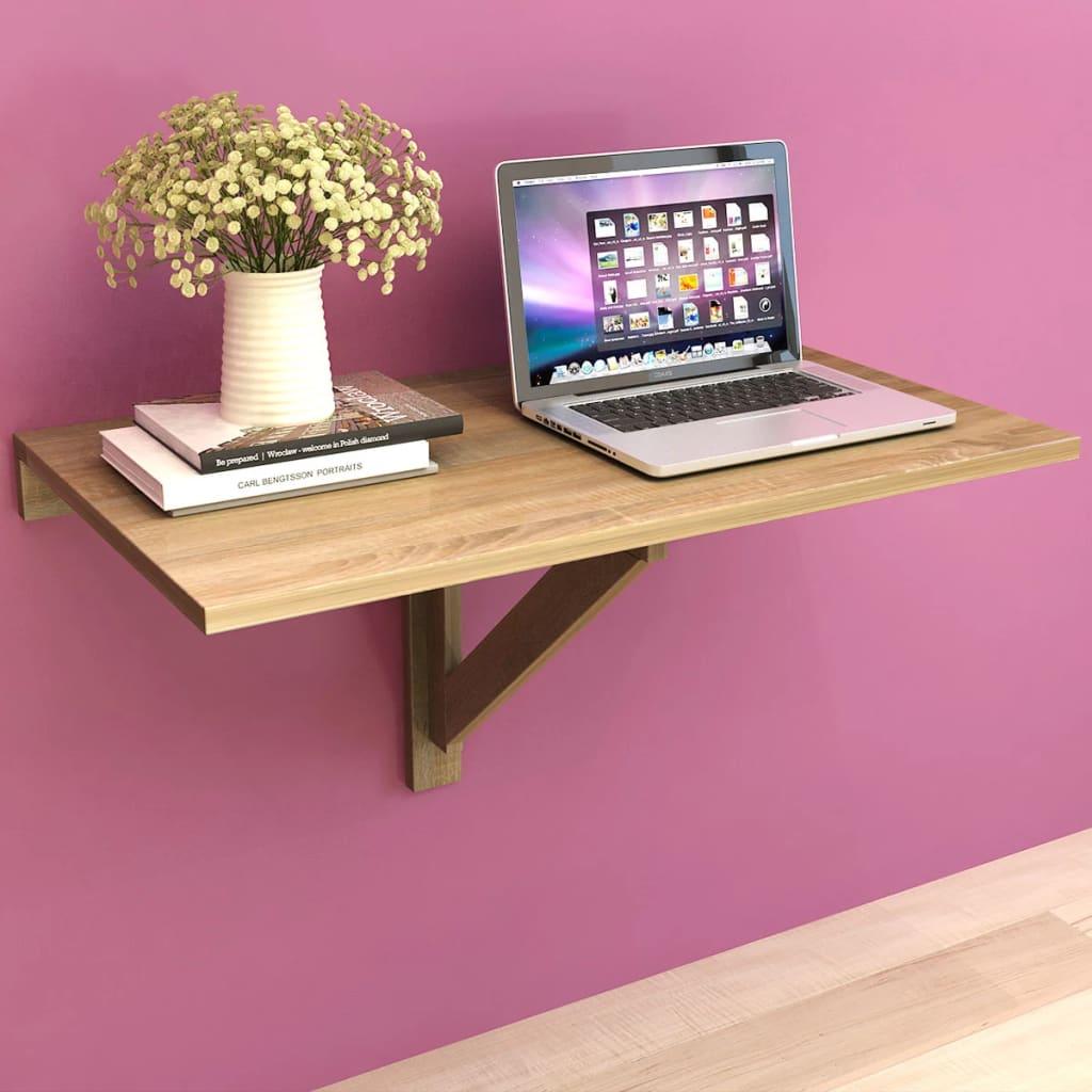 vidaXL 100x60 cm fali lehajtható tölgy asztal