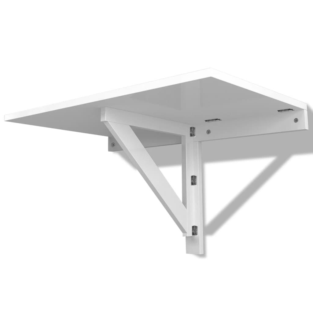 Vidaxl mesa plegable pared blanca 100x60 cm for Mesa plegable pared