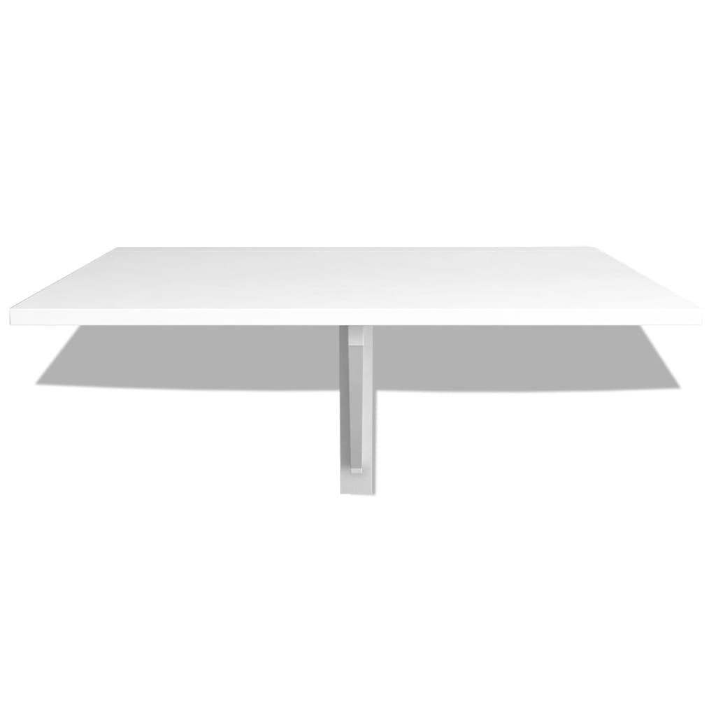 Vidaxl folding wall table white 100x60 cm - Table largeur 60 cm ...