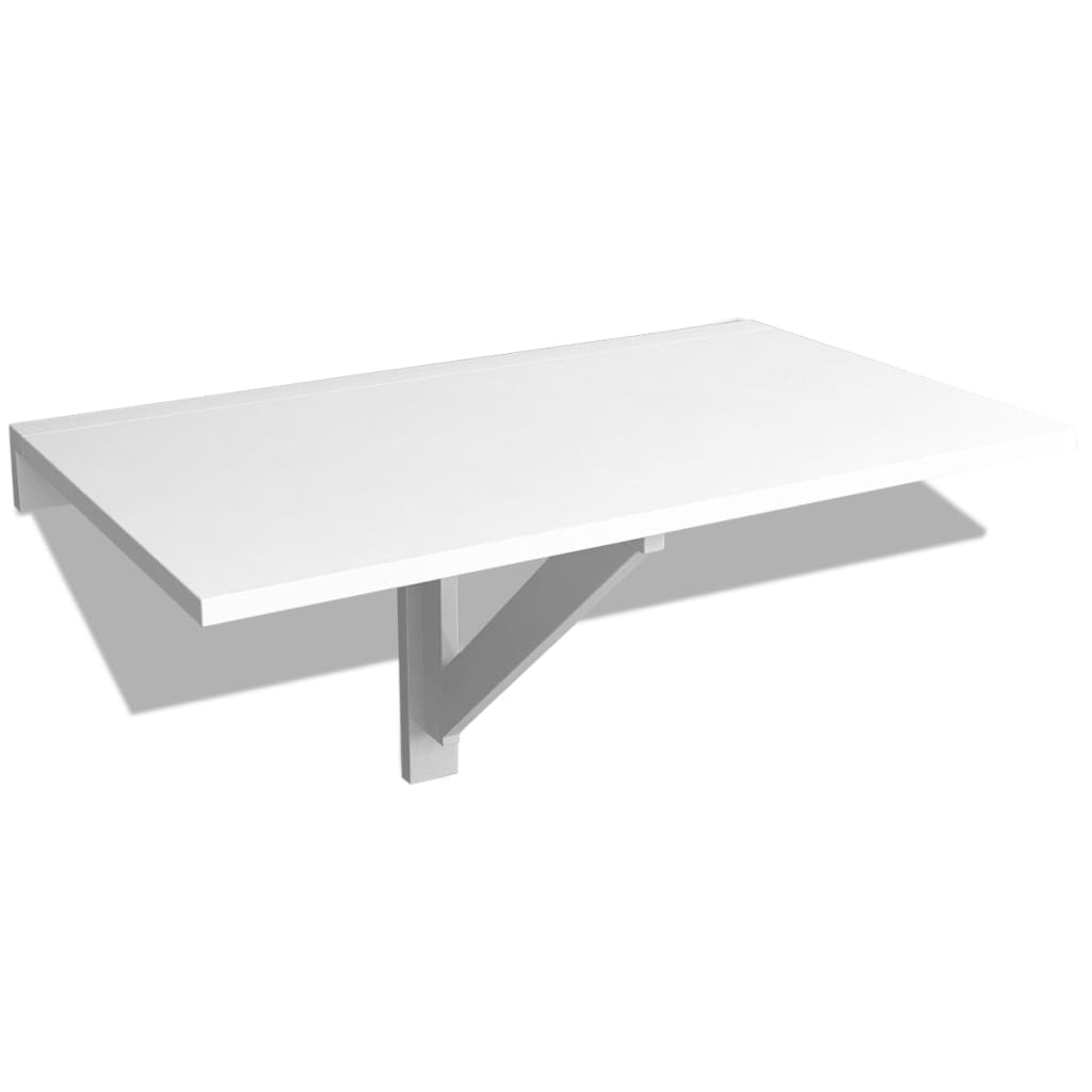 la boutique en ligne vidaxl table murale rabattable 100 x 60 cm blanc. Black Bedroom Furniture Sets. Home Design Ideas