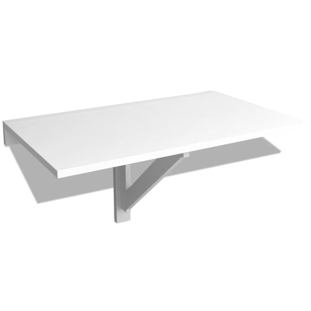 vidaXL Wandklapptisch Wandtisch Küchentisch Klapptisch Esstisch Balkontisch Weiß