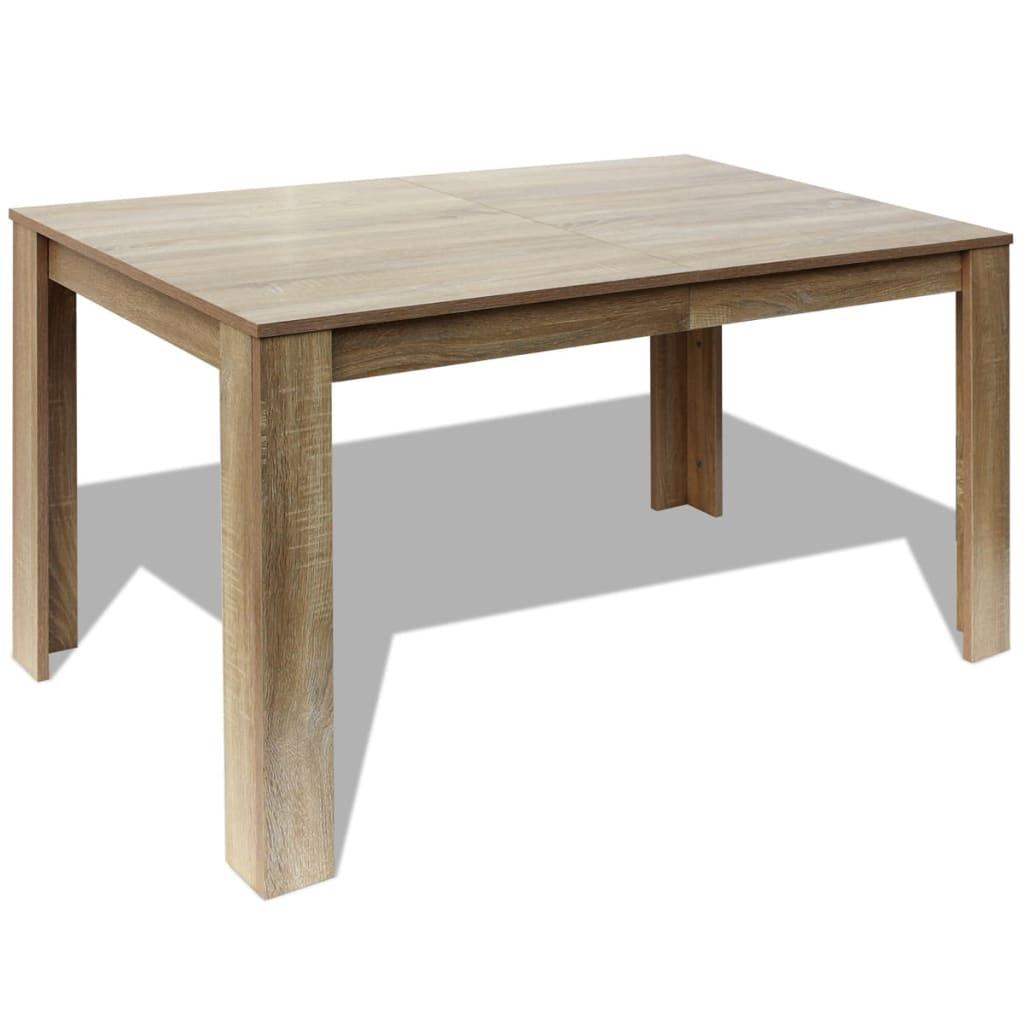 acheter vidaxl table de salle manger 140 x 80 x 75 cm ch ne pas cher. Black Bedroom Furniture Sets. Home Design Ideas