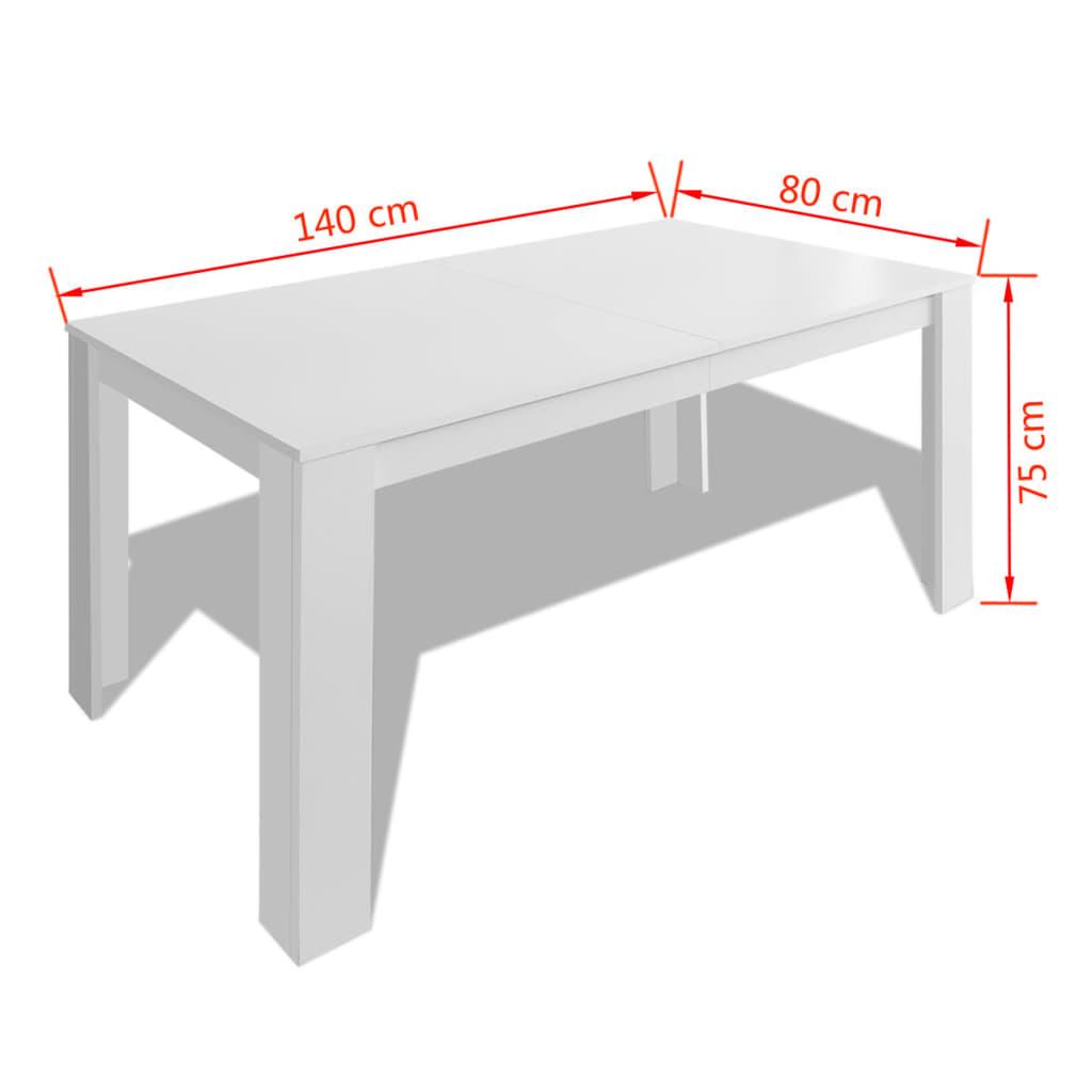 Acheter vidaxl table de salle manger 140 x 80 x 75 cm for Table salle a manger 80 cm de large