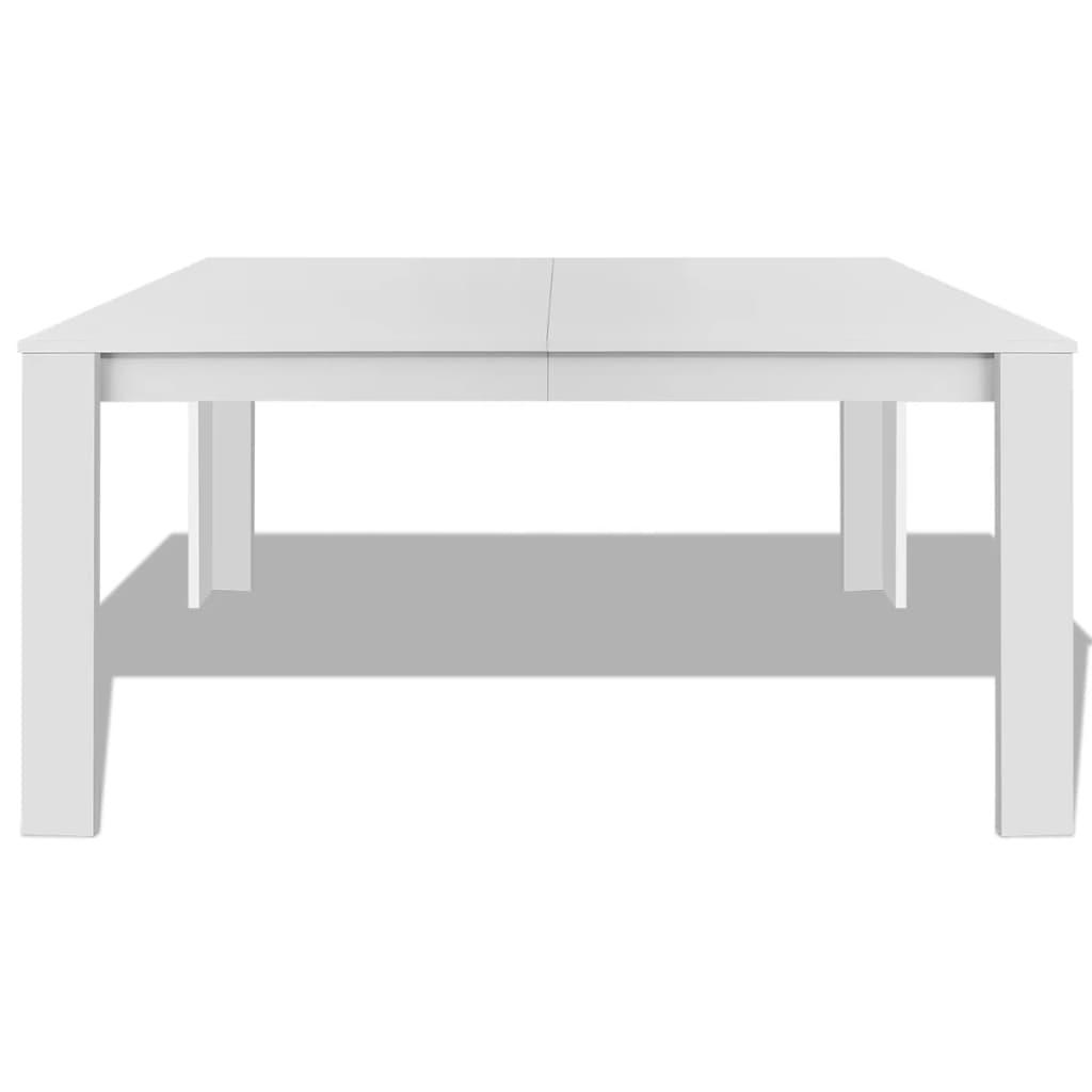 Vidaxl mesa de comedor blanca 140x80x75 cm mesa para for Mesas de comedor madera blanca