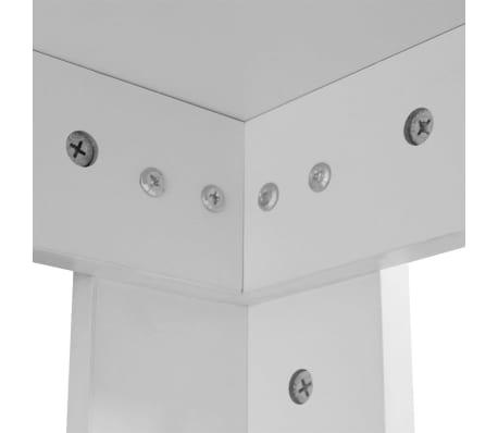 Vidaxl table de salle manger 140 x 80 x 75 cm blanc for Table salle a manger 140 x 80