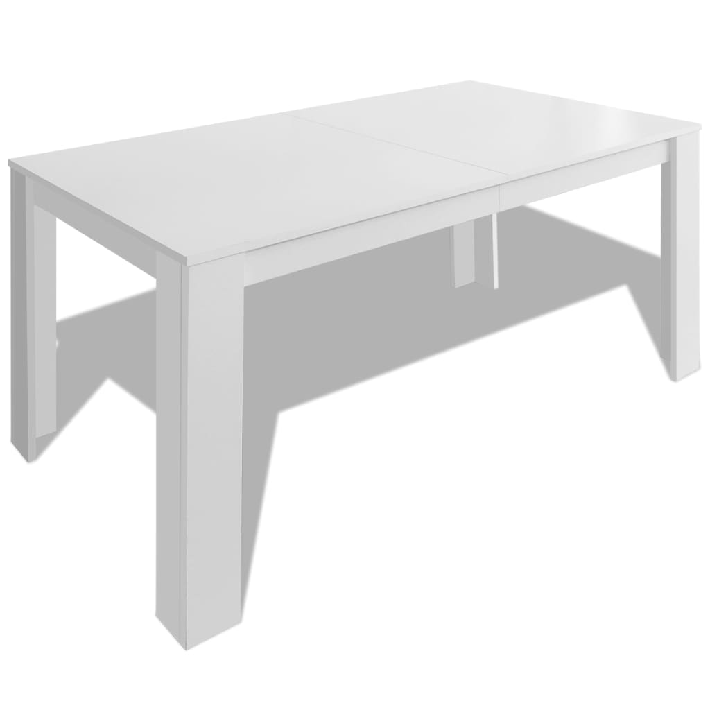 Vidaxl dining table 140x80x75 cm white for Table 140 x 80 design