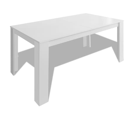 Vidaxl table de salle manger 140 x 80 x 75 cm blanc for Table salle a manger 140 cm