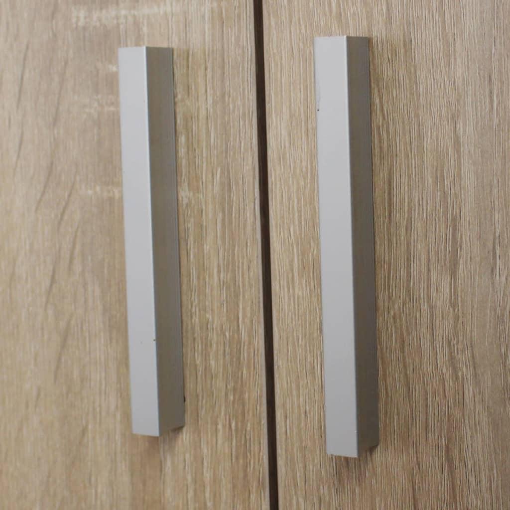 Vidaxl mueble zapatero con 7 estantes roble for Mueble zapatero con asiento