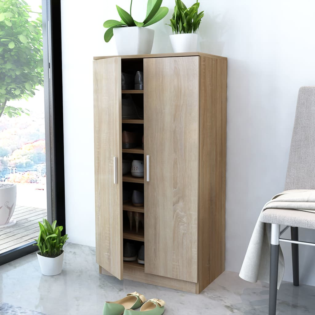 la boutique en ligne vidaxl meuble chaussures 7 tag res ch ne. Black Bedroom Furniture Sets. Home Design Ideas