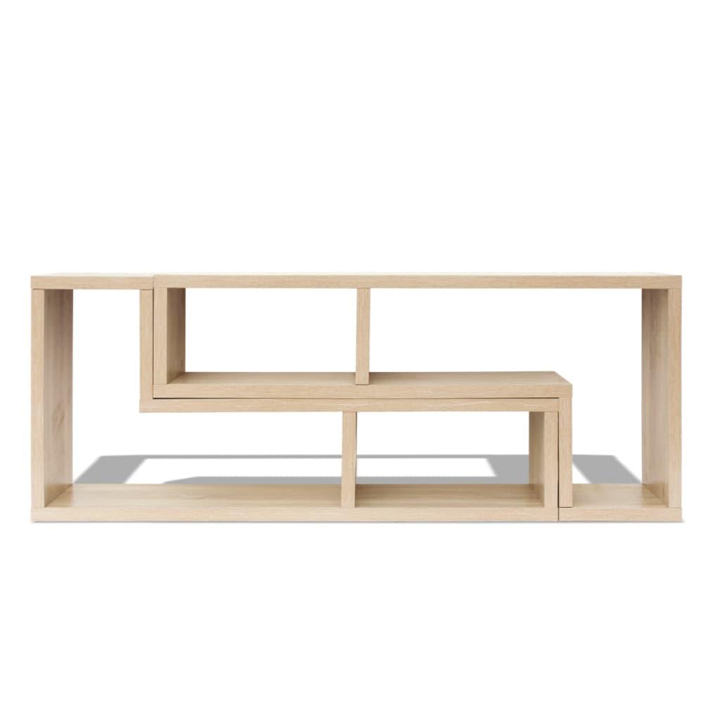 Vidaxl mueble para tv roble en forma de l for Mueble pipas