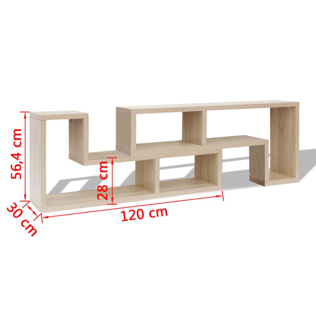 Acheter vidaxl meuble tv double en forme de l ch ne pas for Meuble tv en l