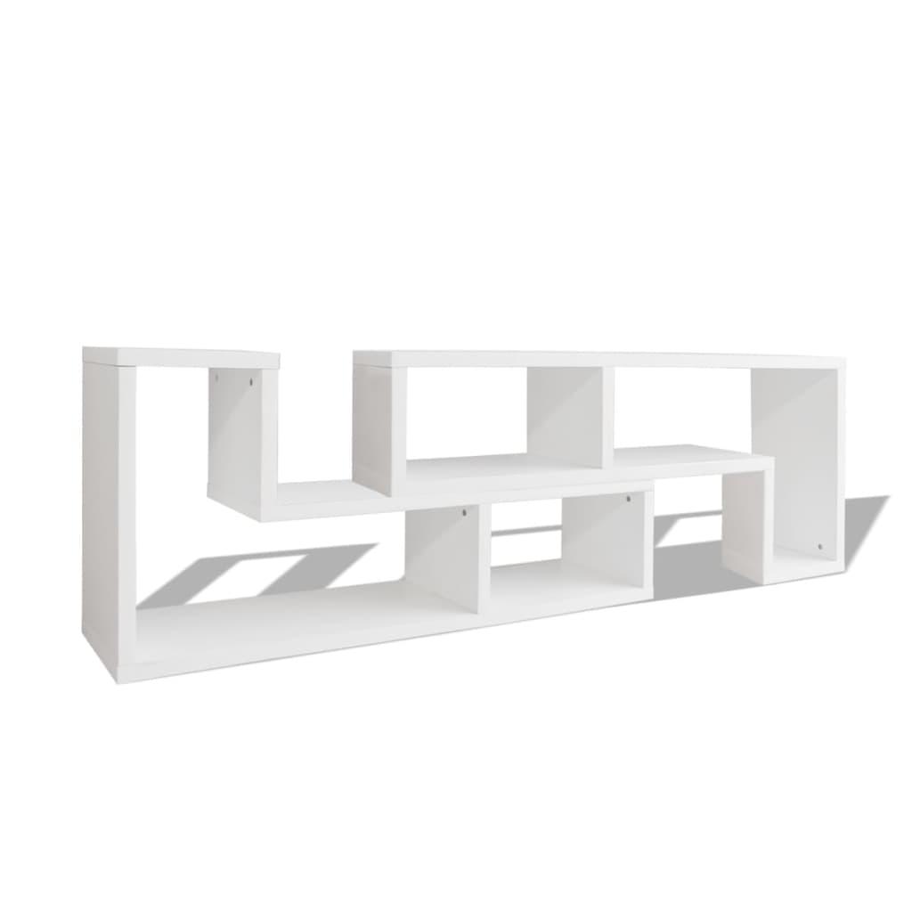 vidaXL Szafki pod TV w kształcie L białe 2 szt.
