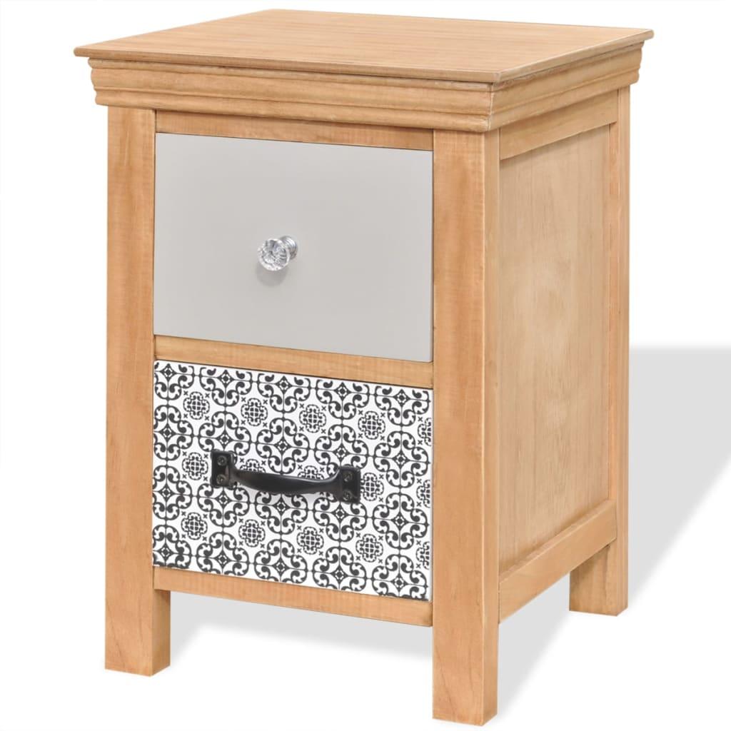 vidaXL Szafka z szufladkami 34x34x46 cm lite drewno