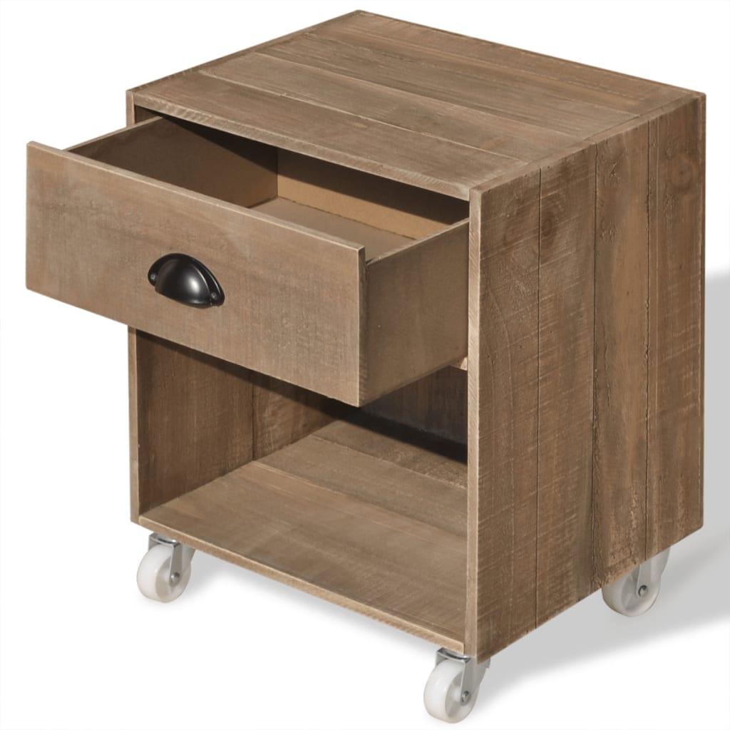 la boutique en ligne vidaxl table de chevet bois massif. Black Bedroom Furniture Sets. Home Design Ideas