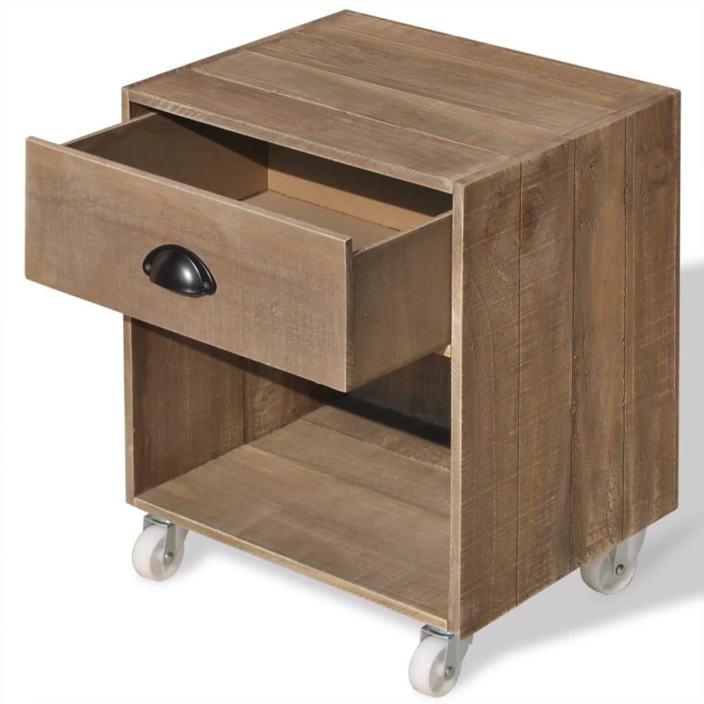 acheter vidaxl table de chevet 2 pi ces bois massif marron pas cher. Black Bedroom Furniture Sets. Home Design Ideas