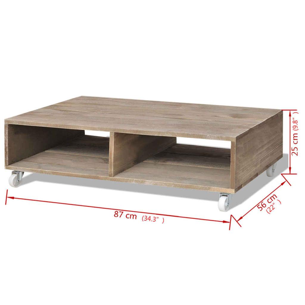 Handla vidaXL Soffbord brun massivt trä vidaXL se