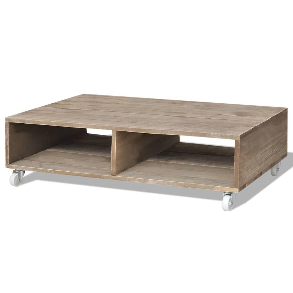 vidaXL-Table-basse-de-salon-Bois-massif-Marron-Table-auxiliaire-Table-d-039-appoint
