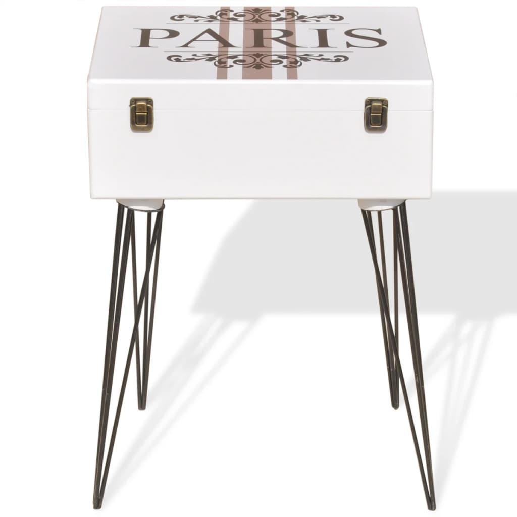 acheter vidaxl table de chevet 40 x 30 x 57 cm blanc pas cher. Black Bedroom Furniture Sets. Home Design Ideas